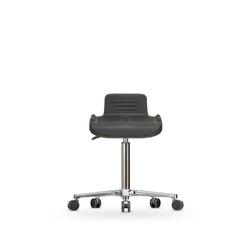 Stolička otočná WS 4220, polyuretanová, s kolečky
